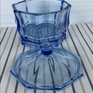 Accents - Vintage Indiana Glass candy dish with lid